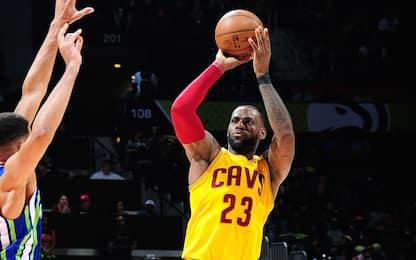 NBA, 25 triple di Cleveland su Atlanta: è record!