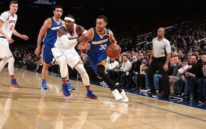 NBA, Warriors ok a New York, Indiana allo scadere