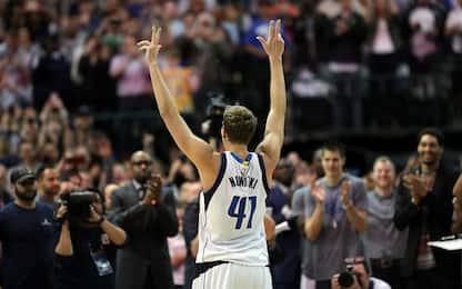 Nowitzki fa 30k: le reazioni social del mondo NBA