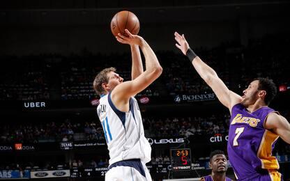 NBA, Dirk Nowitzki leggenda infinita: 30.000 punti
