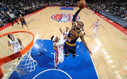 NBA, i risultati della notte: Cavs ko a Detroit