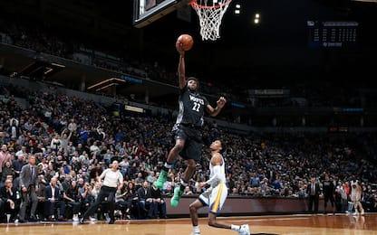 NBA: Golden State ancora ko, battuti da Minnesota