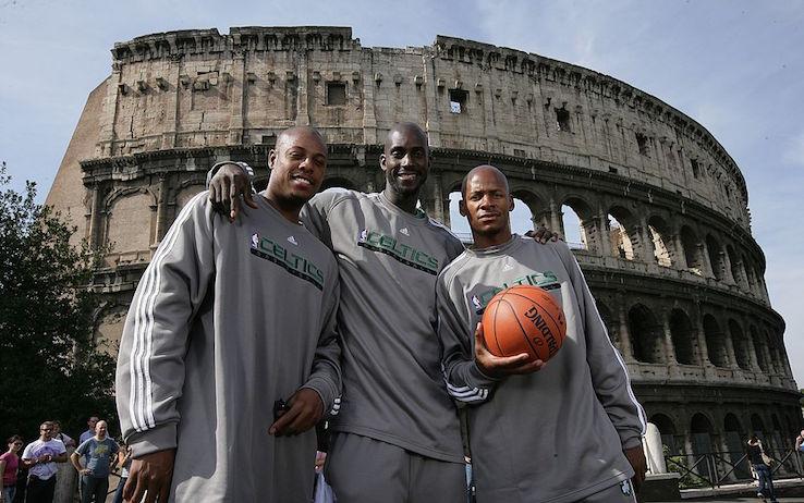 Pierce, Garnett e Allen a Roma (Foto Getty)