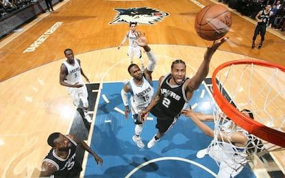 NBA, Spurs vincenti, decide ancora Kawhi Leonard