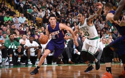 NBA, ai Celtics non vanno giù i 70 punti di Booker