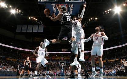 NBA, i risultati della notte: rimonta Spurs su OKC