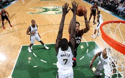 NBA, Toronto si rialza con DeRozan scatenato: 2-2