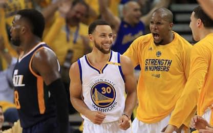 NBA, Golden State mai in difficoltà: è 2-0 su Utah