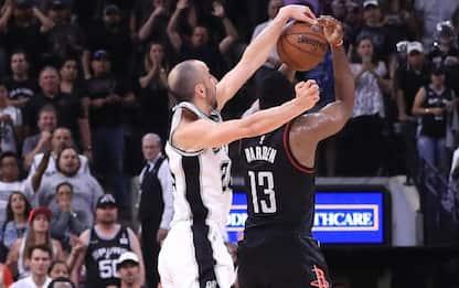 NBA, che vittoria per gli Spurs: è 3-2 sui Rockets