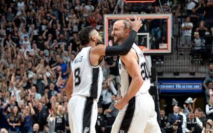 """NBA, Ginobili decisivo: """"È stato il nostro perno"""""""