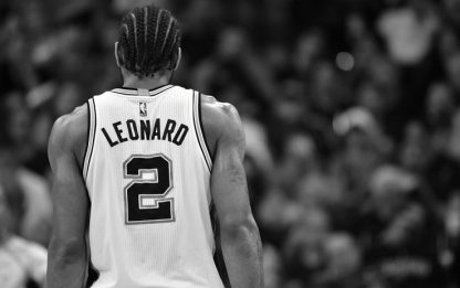 NBA infortunio alla caviglia sinistra per Leonard
