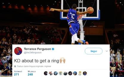 NBA, che gaffe Ferguson: scelto da OKC, ma tifa KD