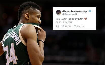 Giannis Antetokounmpo giura fedeltà a Milwaukee