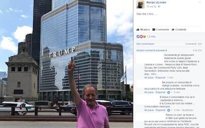 Ulivieri d'America: dito medio rivolto a Trump