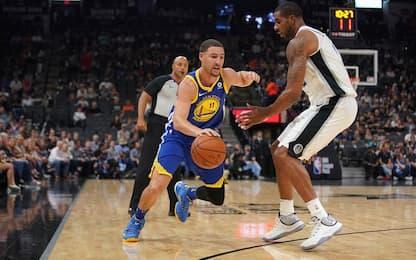 Contro Golden State quarta sconfitta in fila Spurs