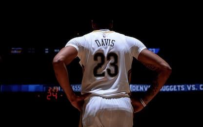 Pelicans, sospetto trauma cranico per Davis