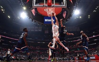 Torna Gallinari, ma Clippers ko. Perde Atlanta