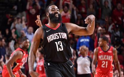 Harden dominante: 10^ vittoria in fila per Houston