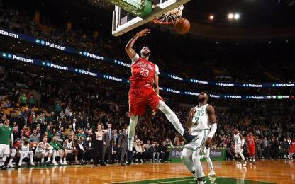 Anthony Davis schianta Boston al supplementare