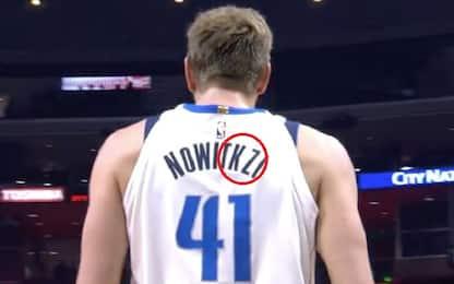 Nowitzki, 50.000 minuti e uno spelling sbagliato