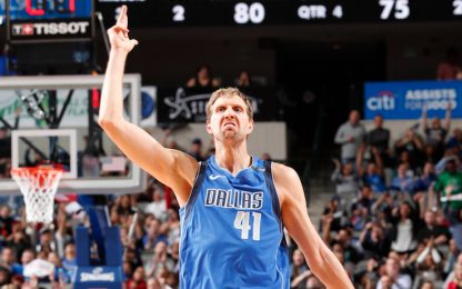 Dirk Nowitzki infinito: 31.000 punti in carriera