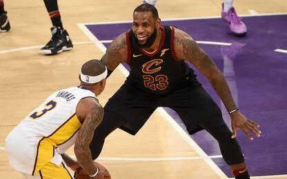 Cavs ko contro i Lakers, un messaggio per James