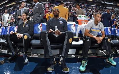 Allarme Warriors: Thompson, Durant e Curry out