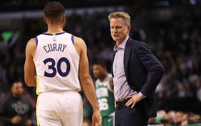 "Kerr: ""Niente Curry al 1° turno"", ma Steph spera"