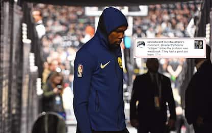 KD ci ricasca: like su Instagram contro Westbrook