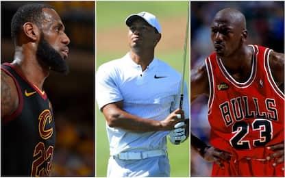 """Tiger Woods: """"Jordan o LeBron? Vi dico la mia"""""""