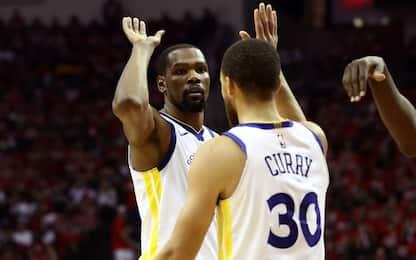 Che duello Durant-Harden: Golden State va sull'1-0