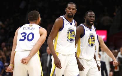 Warriors e Durant senza pietà: è 3-0 su Cleveland