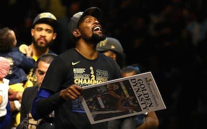 I Golden State Warriors vincono il titolo NBA 2018