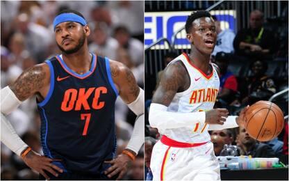 Carmelo Anthony va ad Atlanta, Schröder a OKC