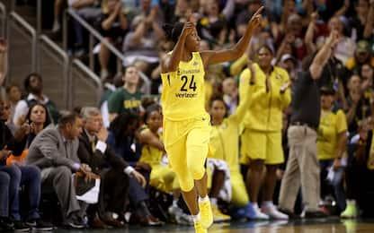 WNBA: Seattle domina in gara-1, Washington ko