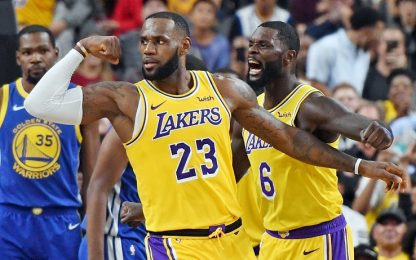 LeBron e i Lakers battono Golden State