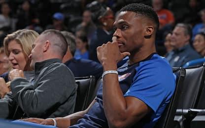 Westbrook non ce la fa, out contro Golden State