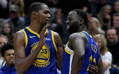 Green non passa il pallone, Durant si arrabbia
