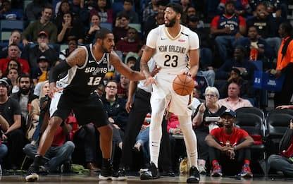 Spurs ko contro Davis, vince L.A. senza Gallinari
