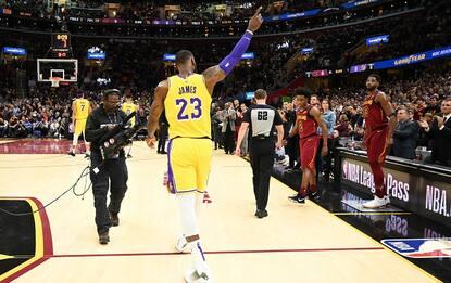 La Standing ovation di Cleveland per LeBron James