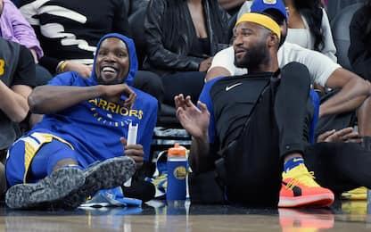 Cousins schiaccia in testa a Durant. VIDEO