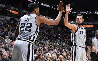 Spurs show contro Minnesota: 17 punti di Belinelli