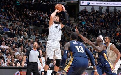 Spurs ok su New Orleans, 17 punti per Belinelli