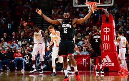 "Harden ""solo"" 28 vincono Rockets, Warriors e Bucks"