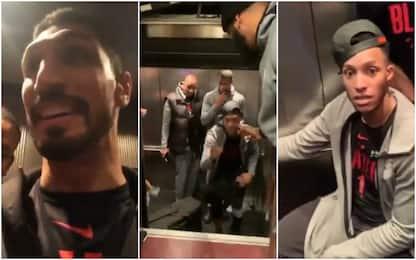 I Blazers restano bloccati in ascensore a Boston
