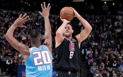 Gallinari trascina i Clippers sul campo dei Kings