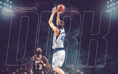 Nowitzki supera Chamberlain: 6° marcatore all-time