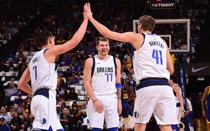 Doncic e Dirk distruggono Golden State senza Curry