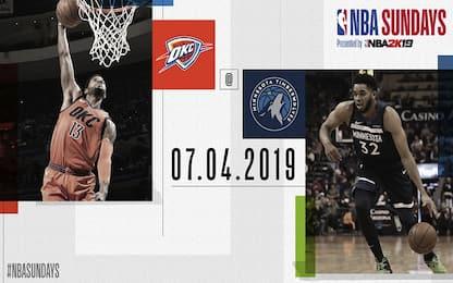 NBA Sundays: Minnesota-OKC alle 21.30 su Sky Sport
