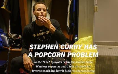 La dipendenza di Steph Curry: i popcorn